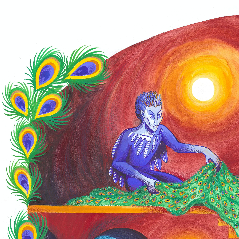 Illustration réalisée à la gouache et aux crayons de couleur