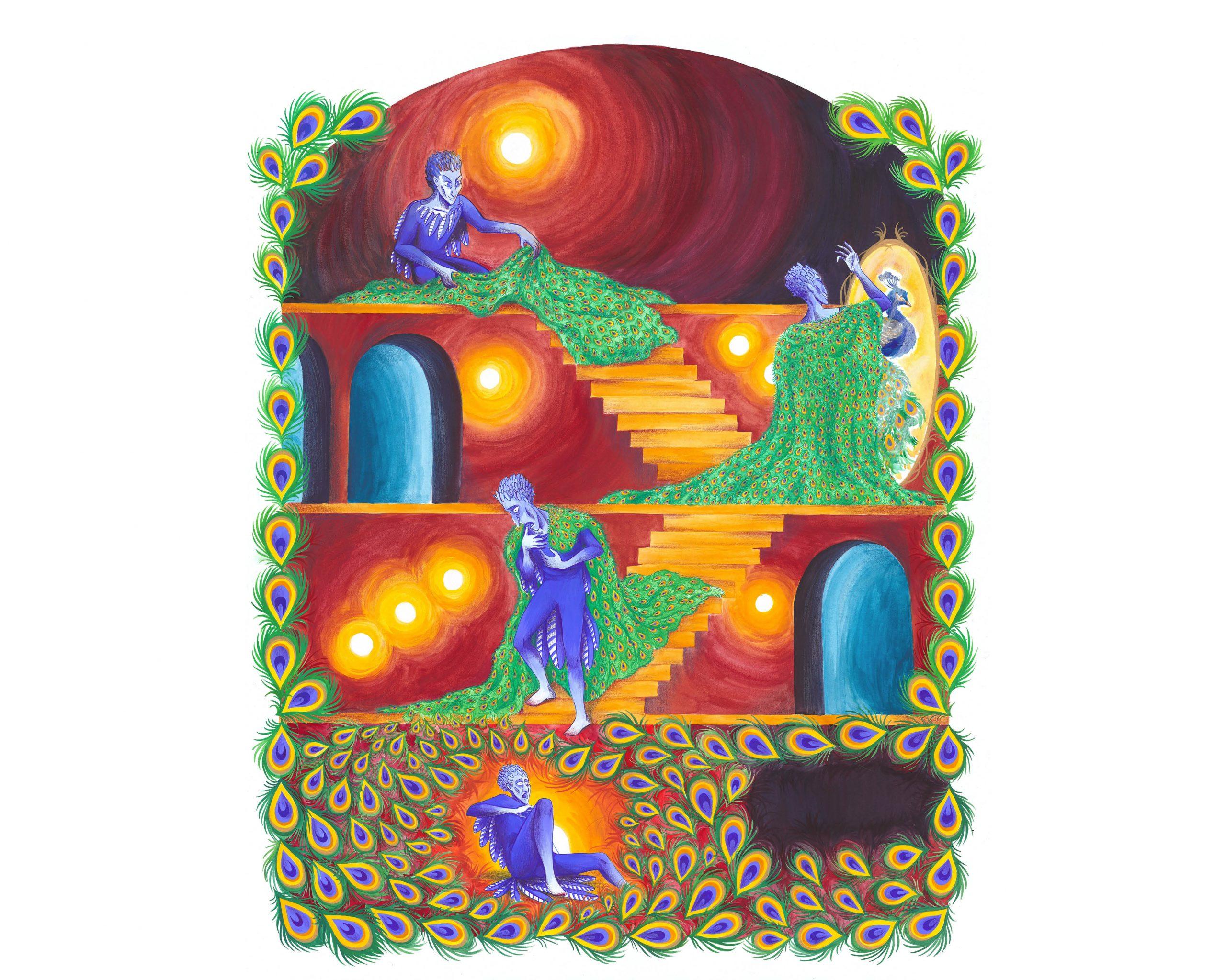 Illustration réalisée à la gouache et aux crayons de couleur Format 50 x 65 cm